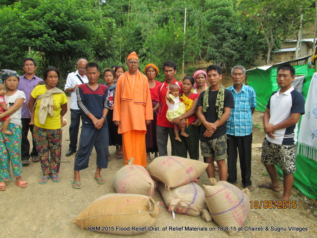 2015 Manipur FLood : First Relief Services of Ramakrishna Mission, Belur Math, in Manipur