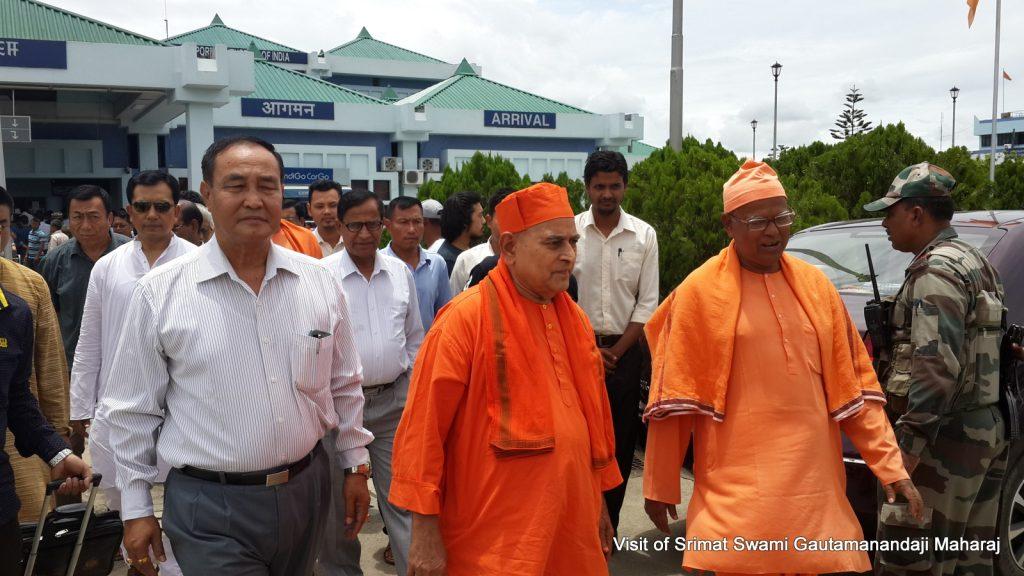 Visit of Srimat Swami Gautamanandaji Maharaj
