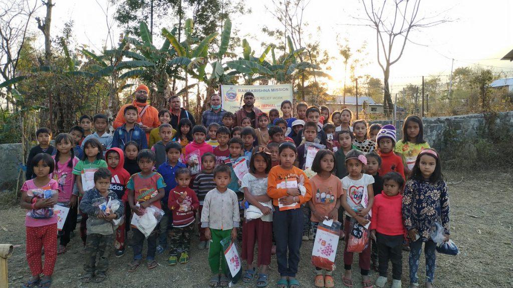 Distribution of items to Children in Sipijang & Seloi Villages, Kangpokpi Dt.