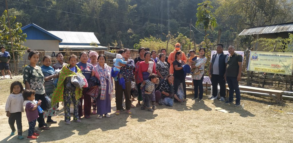 Visit & Relief @ N. Songlung Village under Saitu Gamphazol Sub-Division, Kangpokpi Dt.